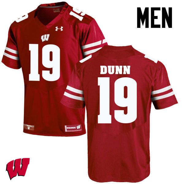 Men Wisconsin Badgers #19 Bobby Dunn College Football Jerseys-Red