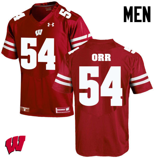 Men Wisconsin Badgers #50 Chris Orr College Football Jerseys-Red