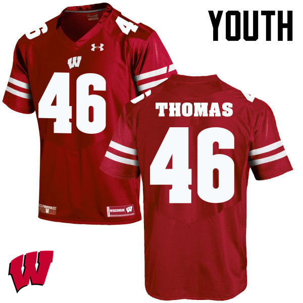 Youth Wisconsin Badgers #45 Nick Thomas College Football Jerseys-Red