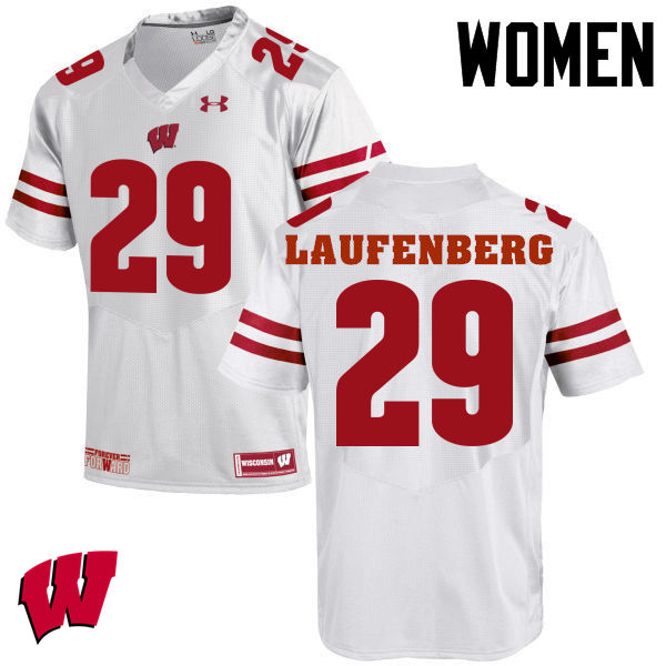 Women Wisconsin Badgers #29 Troy Laufenberg College Football Jerseys-White